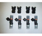 4X Upgraded Bosch EV14 Injectors w/ adapter clips for Audi TT A4 1.8T / VW Jetta GTI 1.8T (52lb, 60lb, 72lb, 96lb)