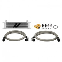 Thermostatic Oil Cooler Kit 10-Row Universal Fitment By Mishimoto
