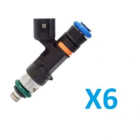 6X Upgraded Bosch EV14 Injectors w/ adapter clips for B5 Audi S4 (635cc, 724cc, 865cc, 1000cc, 1176cc)